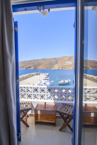 amorgos hotel mike sea view balcony