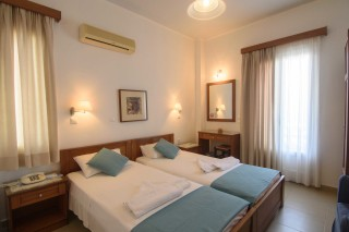 amorgos hotel mike two single beds