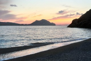 amorgos mike hotel sunset
